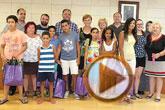 Autoridades municipales realizan una recepción institucional a los siete niños saharauis acogidos este verano por familias de Totana