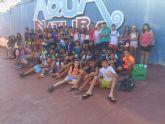 Los alumnos de la Escuela Multideporte de Alguazas visitan la Torre Vieja y Terra Natura