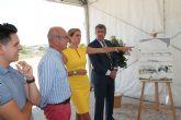 La Alcaldesa de Archena y el Consejero de Desarrollo Económico, Turismo y Empleo colocan la Primera Piedra del edificio del futuro Vivero de Empresas