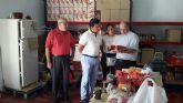 El alcalde visita Cáritas San Javier
