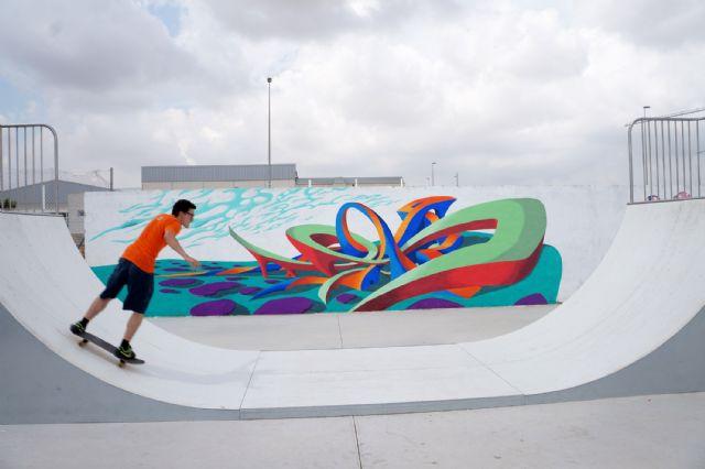 Jóvenes artistas torreños decoran la zona municipal de skate-board - 1, Foto 1