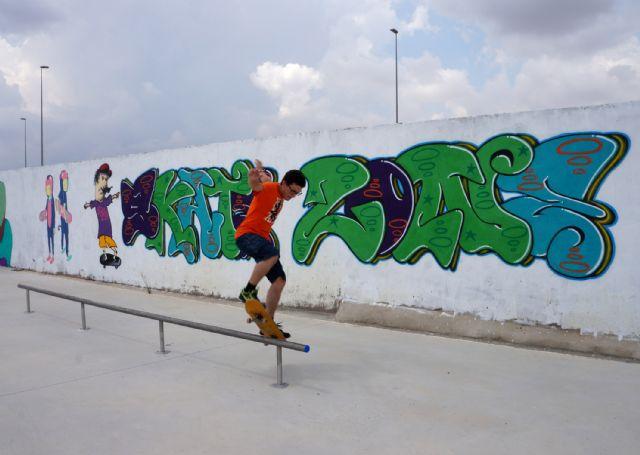 Jóvenes artistas torreños decoran la zona municipal de skate-board - 2, Foto 2