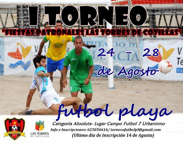 Fútbol playa en las Fiestas Patronales de Las Torres de Cotillas - 1, Foto 1