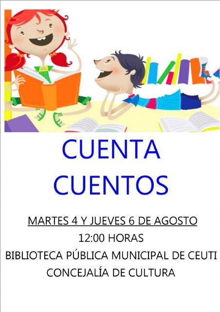 La Biblioteca Municipal de Ceutí organiza dos cuentacuentos para el mes de agosto - 1, Foto 1