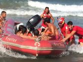 Cruz Roja Española en Águilas rescata a 18 personas este fin de semana