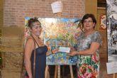 El artista Pérez Parra, ganador del concurso de pintura rápida Águilas en tu pincel