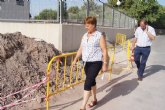 M�s de 4.000 vecinos de las zonas altas de los Huertos se benefician de las obras del nuevo entronque en la red que la Mancomunidad de Canales del Taibilla tiene en la Carretera de La Huerta