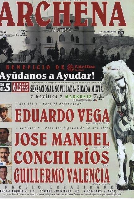 Presentación del cartel de la novillada -picada mixta a beneficio de Cáritas que se realizará en las Fiestas del Polvorín de Archena - 3, Foto 3