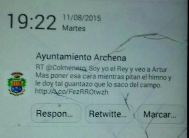 Otro desliz del ayuntamiento de Archena en Twitter - 1, Foto 1