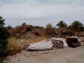 Ahora Murcia denuncia la suciedad del jardin del Poligono Industrial Oeste