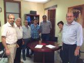 Reunion de directivos de CEBAG con el alcalde de Aledo