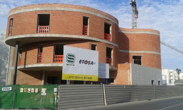 Más de la mitad de la obra del nuevo colegio Miguel Medina de Archena ya está ejecutada - 2, Foto 2