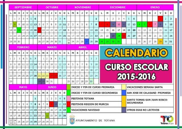 El comienzo del curso escolar 2015/16 será el día 8 de septiembre en Educación Infantil y Primaria