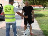 La Policía Local de Cartagena rescata un perro en condiciones vejatorias y de abandono