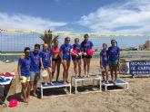 Alta participación femenina en el Campeonato de Voley Playa de Los Urrutias