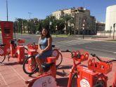 Murcia ya cuenta con 42 de las 60 bancadas de MUyBICI previstas