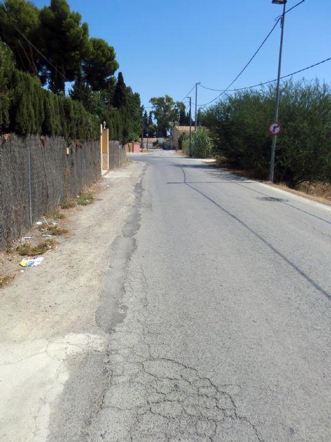 La Consejería de Fomento rehabilitará la carretera que une en la estación de mercancías con el Polígono Industrial Oeste de Alcantarilla y el barrio de Las Tejeras - 2, Foto 2