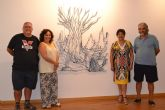 Urcitanus expone sus esculturas en forja en el Aula de Cultura de Cajamurcia