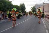 Las carrozas y comparsas llenan las calles torreñas de bailes, disfraces y diversión con su tradicional desfile
