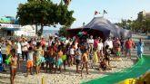 Santiago de la Ribera acogió una jornada de convivencia del centenar de niños saharauis que pasan el verano acogidos por familias murcianas