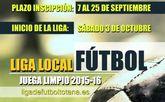 El plazo de inscripción para Liga Local de Fútbol 'Juega Limpio' 2015/2016 se abre el 7 de septiembre