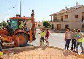 En marcha las obras de mejora de calles y aceras en el núcleo urbano de Puerto Lumbreras