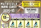 La Escuela de Danza Manoli Cánovas abre el plazo de matrícula para el nuevo curso 2015-16