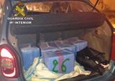 Detenido en Granada un vecino de Totana con 150 kilos de hachís en el maletero