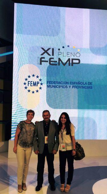 Representatives of the Municipal Corporation of Totana attend the XI Plenum of the Spanish Federation of Municipalities and Provinces (FEMP)