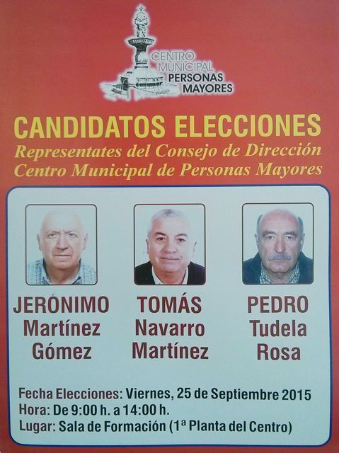 Elections to the Board of the Municipal Senior Center held this Friday, 25