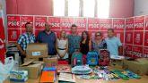 Juventudes Socialistas agradece la gran acogida de su campaña de recogida de material escolar