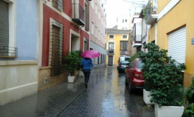 Totana and the region of Guadalentín will alert Sunday booked for rainfall and thunderstorm