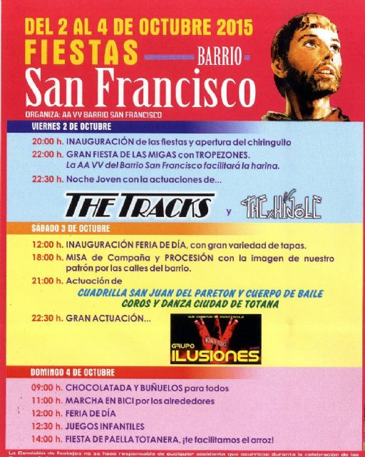Las fiestas del barrio de San Francisco se celebran del 2 al 4 de octubre - 1, Foto 1