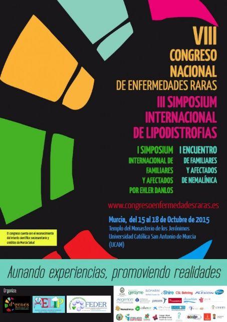 Se presentan un total de 120 comunicaciones al VIII Congreso Nacional de Enfermedades Raras