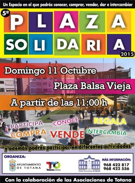 La actividad de la Plaza Solidaria se celebrará el domingo 11 de octubre - 2, Foto 2