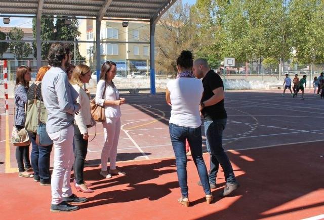 Educación mejora la pista deportiva del CEIP Obispos García Ródenas de Bullas - 1, Foto 1