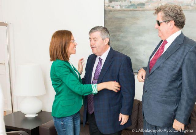 López y Castejón mantienen contacto con el delegado territorial de la ONCE - 1, Foto 1
