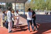 Educación mejora la pista deportiva del CEIP Obispos García Ródenas de Bullas
