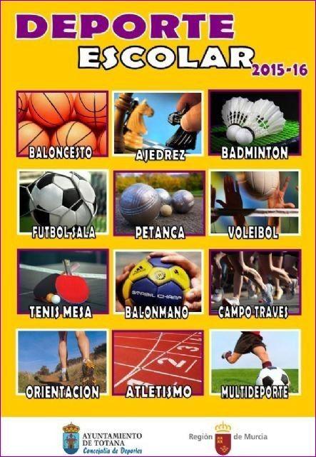 Comienza este próximo fin de semana el programa Deporte Escolar correspondiente al curso escolar 2015/16 - 1, Foto 1