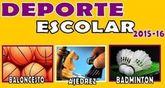 Comienza este próximo fin de semana el programa Deporte Escolar correspondiente al curso escolar 2015/16