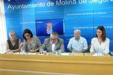 El Ayuntamiento de Molina de Segura y tres organizaciones sociales firman convenios de colaboración por un importe total de 13.000 euros