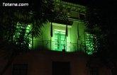 El Ayuntamiento de Totana se iluminó de verde por la #Plenainclusión de las personas con discapacidad intelectual