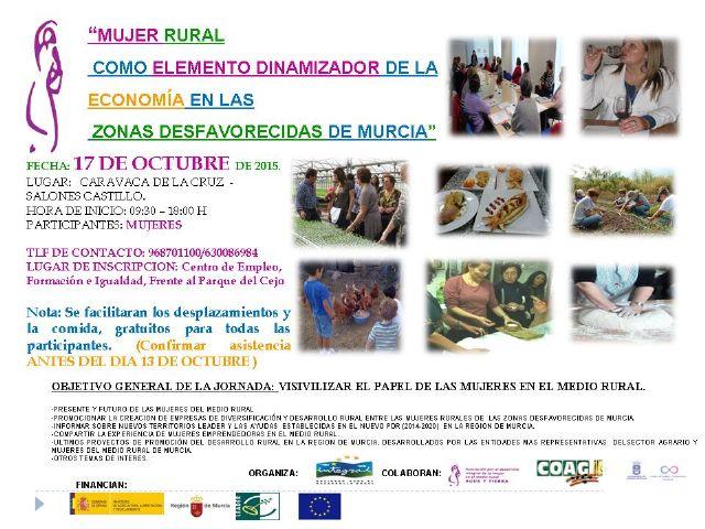 La mujer rural como elemento dinamizador de la economía centra una jornada el 17 de octubre en Caravaca - 1, Foto 1