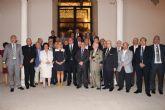 El presidente de la Comunidad recibe a los cronistas oficiales de la Región de Murcia