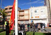 Puerto Lumbreras se suma al acto homenaje de la bandera de España con motivo del Día de la Hispanidad 2015