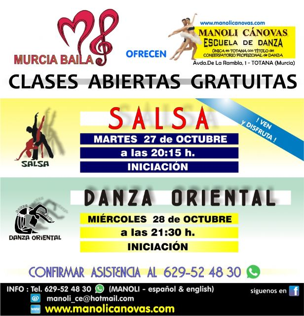 Free salsa and oriental dance