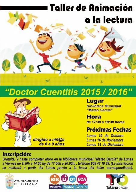 """Workshop Reading Promotion """"Doctor cuentitis"""" begins today at the public library """"Matthew Smith"""""""