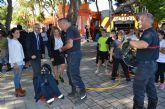 Los niños pinatarenses cierran la Semana de Prevención de Incendios con ejercicios al aire libre