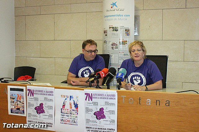 """Totana will be in the """"March against sexist violence"""" on 7-N in Madrid with a free bus"""