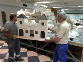 Operarios municipales trabajan ya en la construcción del nuevo 'Belén municipal'